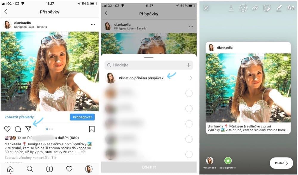 Jak sdílet příspěvek do Instagram Stories