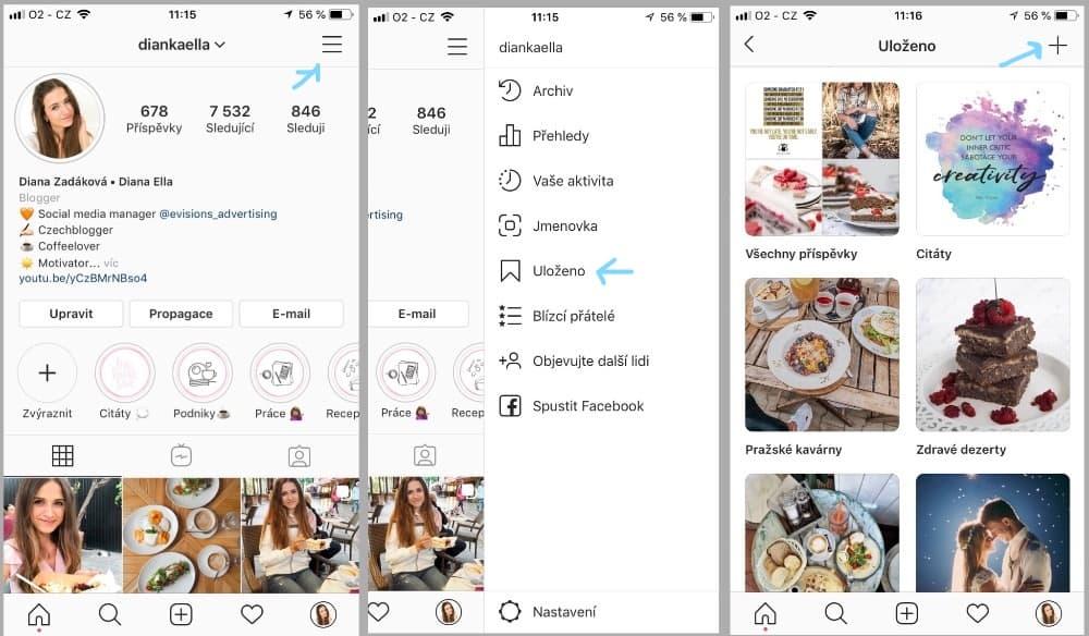 Jak tvořit sbírky (kolekce) na Instagramu