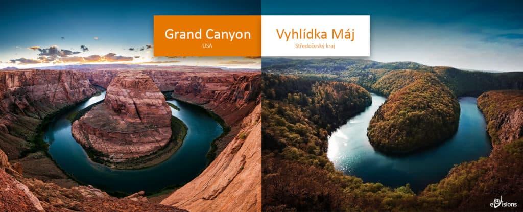 Vyhlídka Máj versus Grand Canyon