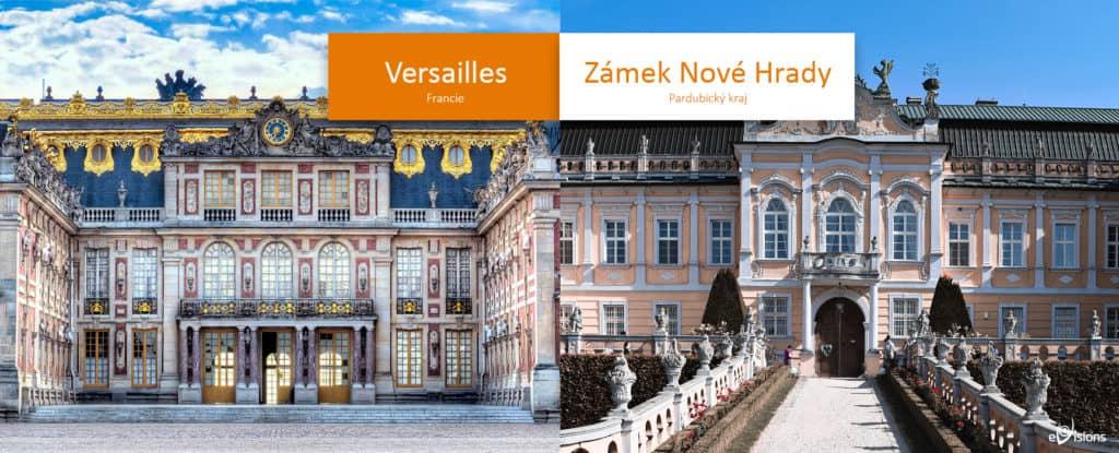 Zámek Nové Hrady versus Versailles